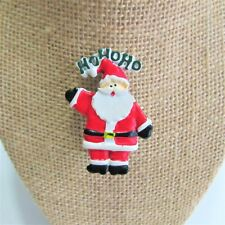 Pin Brooch HoHoHo K05 Christmas Holiday Santa Claus