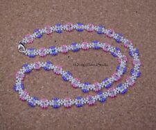 Summer Sparkle Miyuki / Crystal Beaded Necklace - Floral Theme