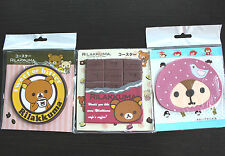 Lot 3pcs Coasters Silicon Anti-slip Mug Cup mat holder Rilakkuma Squirrel Kawaii