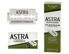 20 x ASTRA SUPERIOR PLATINUM DOUBLE EDGE SAFETY RAZOR BLADES