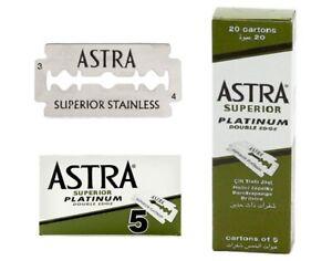 20 x ASTRA SUPERIOR PLATINUM DOUBLE EDGE SAFETY RAZOR BLADES