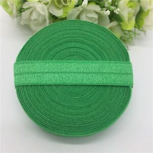 """5 yards 5/8"""" Spandex Ribbon Multirole Fold Over Elastic For Sewing Ties Waist"""