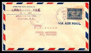 GP GOLDPATH: PANAMA COVER 1931 AIR MAIL _CV694_P08