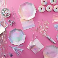 Ginger Ray Iridescent Rainbow Party Pride Birthday Partyware Tableware Lot Set