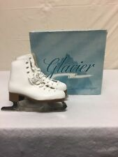Glacier White Leather Ice Figure Skates Womens Sz 3 w/ Box