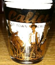 Vintage Calico CA California ghost town gold ACL shot glass ONLY ONE ON EBAY!