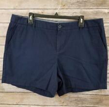"""Merona Women's Chino Shorts Size 16 Navy Inseam 5"""""""