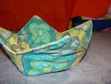Microwave Bowl Holder Bowl Cozy Bowl Potholder Floral Turquoise Bowl Cover Kozy