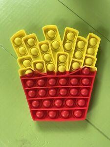 French Fries Fry Push Pop It Fidget Bubble Popper Stress Reliever Autism Sensory