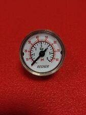Manometer NG 27 Messing 0...6 bar 86 psi G1/8 hinten Modellbau Hydraulik Druck
