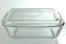 Antique Duralex France Clear Glass Butter Dish Tray 6.75in L807