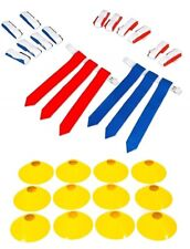 14 Player Flag Football Deluxe Set -14 Belts, 42 Flags, 12 Cones & 1 Mesh Bag