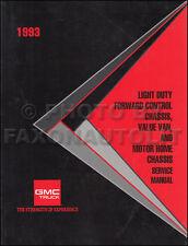 1993 GMC P3 and PG Repair Shop Manual Original Motor Home Chassis and Step Van