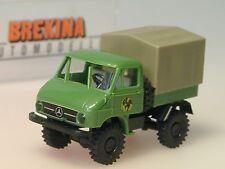 Brekina Unimog 411, SCHENKER, Pr/Pl, hellgrün - 39003 - 1/87