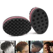 Double Hair Brush Sponge Dreads Locking Twist Coil Afro Curl Wave Magic Tool Kit