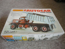 Matchbox AMT ERTL Autocar Dump Truck model kit 1:25 th scale complete