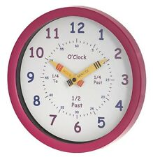 UNITY CHILDREN'S BEDROOM NURSERY LEARN TO TELL TO THE TIME CLOCK IN PINK GIRLS