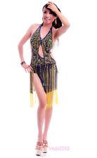 Belly Dance Costume Latin salsa tango Cha Cha Ballroom Flamenco dress 5 colors