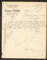 """PARIS (XIII°) FUTAILLES """"François PAGNOD"""" en 1914"""