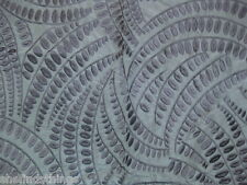 Lee Jofa Threads Meander Silk Leaf Fern Blue Embroidered Designer Fabric Sample