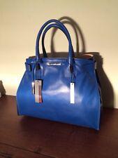 New Blue Innue Italian Genuine Leather Handbag