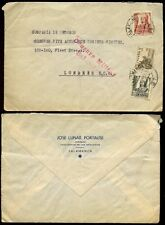 SPAIN 1937 CIVIL WAR MILITARY CENSOR SALAMANCA in RED on COVER to LONDON