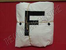 Pottery Barn MORGAN Stripe Bed Duvet Cover California KING Black Monogram F