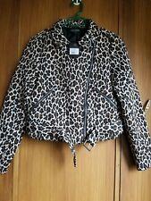 Just Jeans Leopard Jacket Sz 10