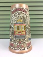 Budweiser Handcrafted San Francisco California Beer Stein Mug Ceramarte Brazil