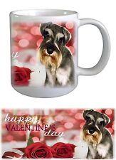 Schnauzer Dog Valentines Ceramic Mug by Paws2Print