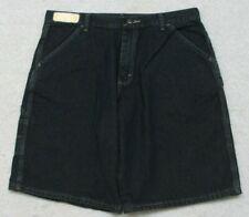 "New Wrangler Blue Denim Jeans Dress Shorts 18 Husky Boys 34"" X 11"" Flat Front"