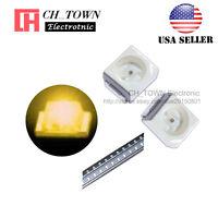 100PCS 1210 (3528) Yellow Light PLCC-2 SMD SMT LED Diodes Ultra Bright USA