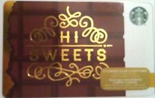 "STARBUCKS Limited Edition Holiday Gift Card ""HI SWEETS"" 2016 New No Value"