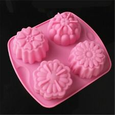 SOAP MAKING  MOLDS - 2 FLOWER MOLDS-PURPLE - GR8 FOR MELT & POUR SOAP MAKING