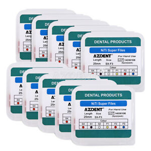 AZDENT Dental Endodontic files NiTi Hand Use Heat Activated Rotary File SX-F3