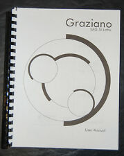 Graziano SAG 14, Lathe Operations Maintenance & Parts Manual