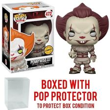 FUNKO POP IT: PENNYWISE Clown w/ boat 472 CHASE MINT In Stock POP w/Protector