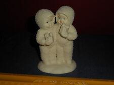 Vintage SNOWBABIES Figurine One For You One For Me DEPT 56 Christmas Porcelain