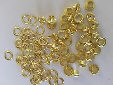 "100 #0 (1/4"" ) Solid Brass Self Piercing Grommets & Washers 100 Pair"