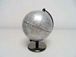 Small Grey World Globe   D18