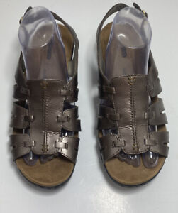 CLARKS COLLECTION Soft Cushion Bronze Slingback SANDAL Womens Sz 9 Extra Wide XW