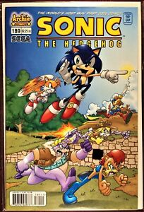 SONIC The HEDGEHOG Comic Book #189 August 2008 First Edition Bagged Boarded MINT