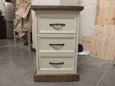 RUTLAND PAINTED BEDSIDE CABINET HAND MADE ROUGH SAWN BESPOKE COLOUR-  OFF WHITE