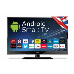 """Cello 24"""" Inch 12v Volt Smart Wifi TV Television with Freeview T2 Full HD Tuner"""