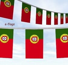 MASSIVE 33FT PORTUGAL FLAGS BUNTING Bandeira de Portugal