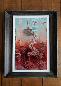 Abstract Dreamscape Psychedelic Visionary Print Surreal Mushroom Wall Art 7.5x12