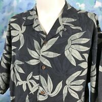 Tommy Bahama Hawaiian Shirt Medium 100% Silk Floral Camp Aloha
