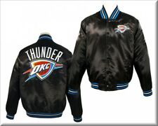 NBA Oklahoma City Thunder Embroidered Satin Jacket by JH Designs (4XL) NEW