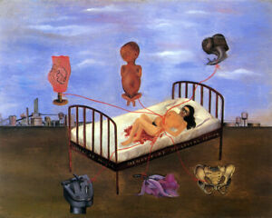Frida Kahlo - Henry Ford Hospital - CANVAS OR PRINT WALL ART