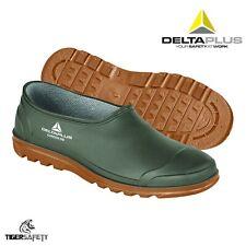 More details for delta plus garden unisex green pvc waterproof gardening clogs wellington shoes